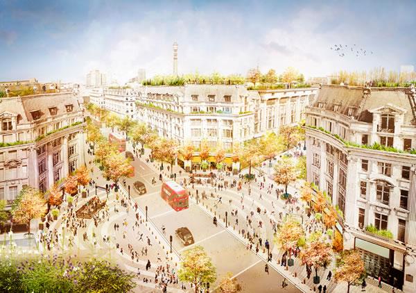 Oxford Circus Pedestrianisaton Plan