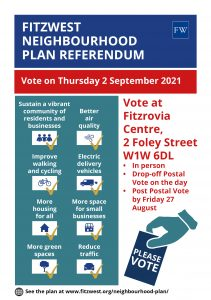 Fitzrovia West goes to the polls on 2nd September 2021